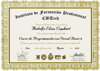 Certificado - Programación con Visual Basic 6