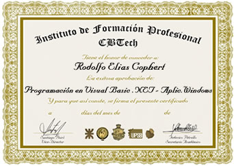 Certificado - Programación en Visual Basic.Net - Aplicaciones Windows